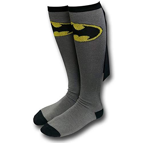 Batman Cape Socks - Batman Grey Erwachsene Knee High Cape