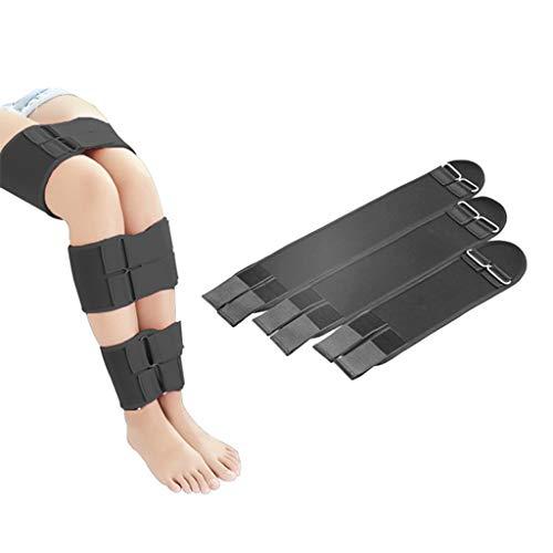 Ckssyao Korrigierte Beine, DREI Träger, Stretchmaterial, atmungsaktiv, schöne Hüften, verstellbar, für Beine und Beine geeignet X Beine O Beine,Black,S -