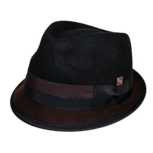 Dasmarca Alastair Twotone Avare Brim Feutre Chapeau mou Noir/Marron