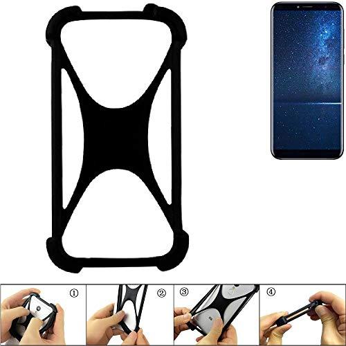 K-S-Trade Handyhülle für Cubot X18 (2017) Schutz Hülle Silikon Bumper Cover Case Silikoncase TPU Softcase Schutzhülle Smartphone Stoßschutz, schwarz (1x)