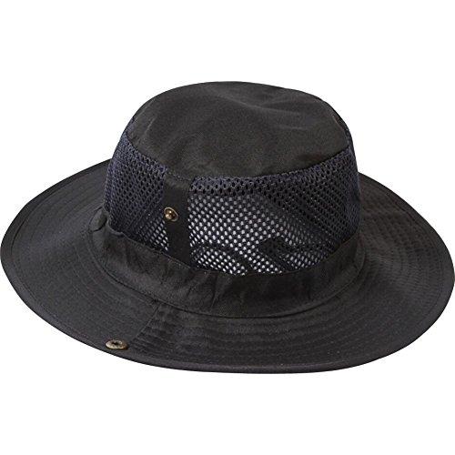 TININNA Mesh Sombrero,Respirable Fresco Visera Gorra,Acampar Pesca Exterior Senderismo Sol Boonie Sombrero para Hombres Mujeres.-Negro