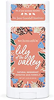 Schmidt's Deodorant For Odor Protection Lily of the Valley Free of Aluminum Salts 3.2