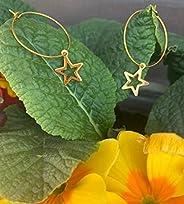 Orecchini STELLA, orecchini a cerchio, orecchini dorati, orecchini a cerchio grandi, orecchini donna, orecchin