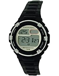Cannibal Active Boy's Digital Mulifunctional Black Plastic Strap Watch CD238-03