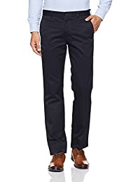 Louis Philippe Men's Straight Fit Formal Trousers (8907545897510_LPTF1M01361_Navy Blue_32)