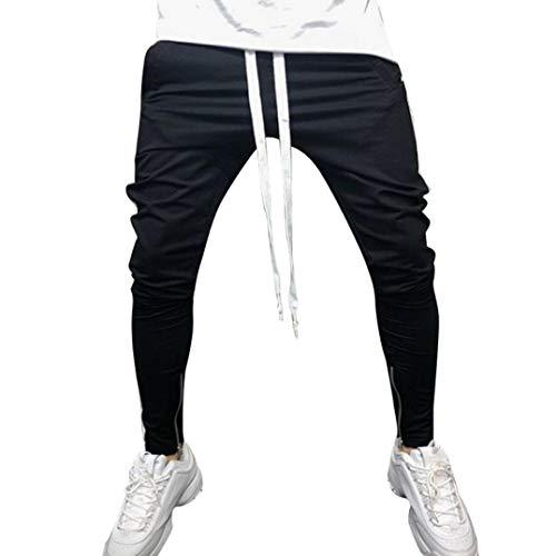 a4a24e6dd6b17 LiucheHD-Pantaloni Sportivi da Uomo Pantaloni Sportivi con Elastico  Pantaloni A Righe Larghi Uomo Pantaloni
