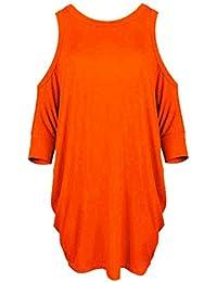 Naranja es Y De Larga Camisetas Manga Amazon Camisetas Tops OwFqzz