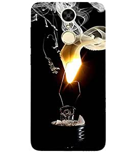 For Huawei Enjoy 6 bulb burning, black background Designer Printed High Quality Smooth Matte Protective Mobile Case Back Pouch Cover by APEX