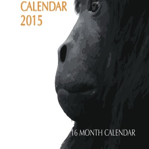 Monkey Mini Wall Calendar 2015: 16 Month Calendar - Monkey-kalender 2015