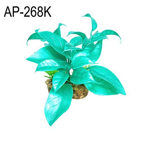 beautijiam Kunstpflanze für Aquarien, künstliches Wassergras, für Aquarien, Reptilien, Käfig, Kunststoff