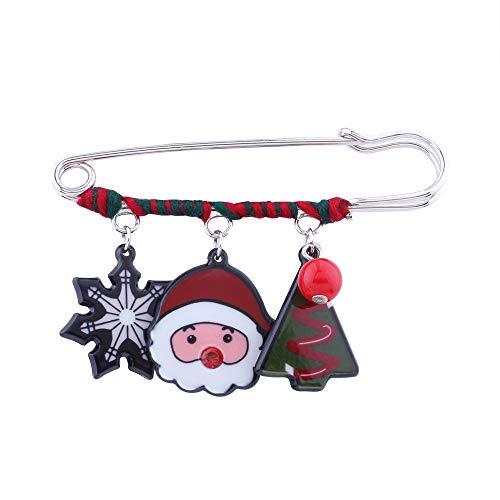 Sie Kostüm Weihnachtsbaum Nähen Einen - Sicherheitsnadel Anstecknadel Brosche Weihnachten Brosche Clip Schmucknadel Weihnachtsmann Weihnachtsbaum Party Geschenke Abzeichen für Damen Schal Mantel Kleid Deko Kostüm Zubehör (C)