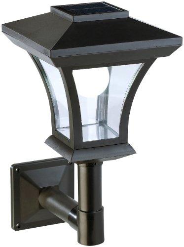 Lunartec Solar Aussenleuchte: Solar-LED-Wandleuchte WL-345, 45 Lumen, 0,3 Watt (Lampe außen)