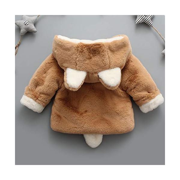 Borlai Chaqueta cálida para bebés de 0 a 5 años con capucha para invierno 3