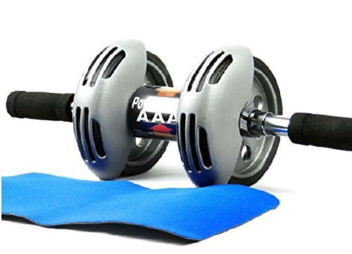 Diswa TOTAL BODY FITNESS WORKOUT - Ab Roller Ab Wheel Abdominal Workout Roller For Ab Exercises. CUSHIONED HANDLES. UNISEX WITH FREE MAT