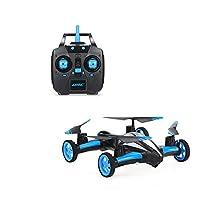 POBO Air&Land RC Drone Dual Mode 2.4Ghz RC RTF 6-Axis Gyro Quadcopter Ground/Sky Flying Car(NO camera) (blue)