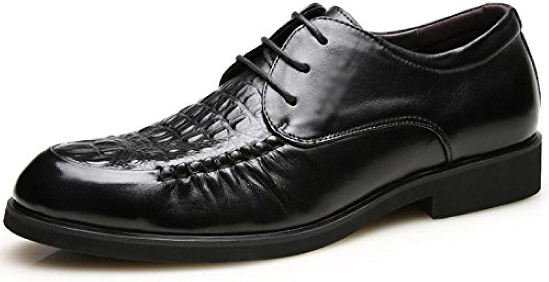 ZHMIAO Scarpe in Pelle per per per Uomo Scarpe Stringate Uomo Scarpe Derby Lavorate Uomo Piatte con Oxford Dress Office...   Forte valore  d8e571