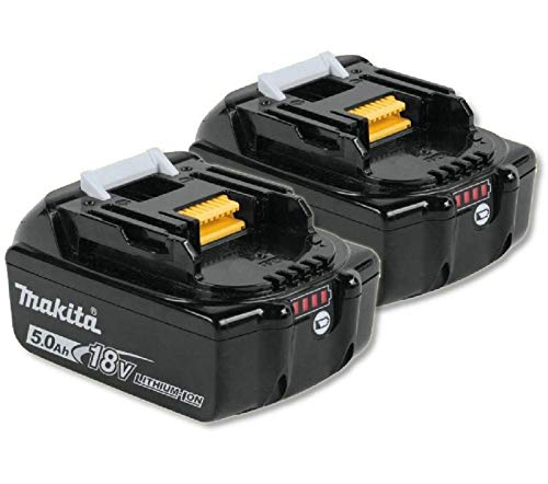 Makita 2BL1850 Li-Ion LXT Akku, 18 V, 5,0 A, Schwarz, 2 Stück