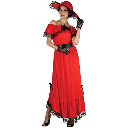 Spassprofi Kostüm Scarlett Gr. 40/44 (M/L) Faschingskostüm Karnevalskostüm (Ohara Kostüme Scarlett)