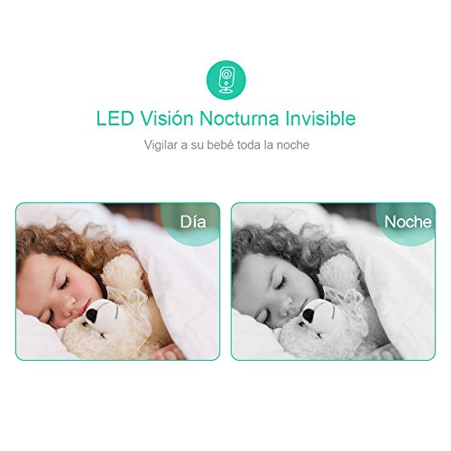 Imagen para GHB Vigilabebés Inalambrico Bebé Monitor Inteligente con LCD 3.2