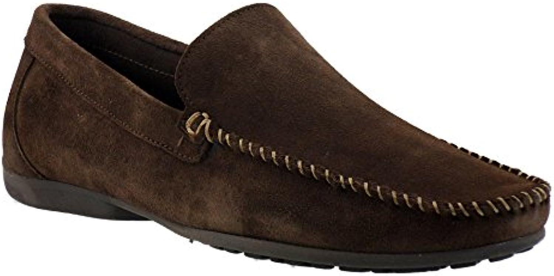 DingobyFluchos - Mocasines para hombre, marrón (marrón), 40