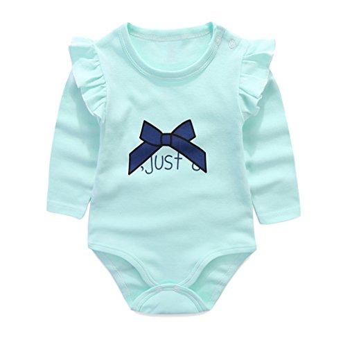 Kleinkind S?ugling Langarm Bodysuit Strampler Baby Jungen Baumwolle Overall Baby M?dchen Pyjamas Outfit (Gerber Baby-overalls)