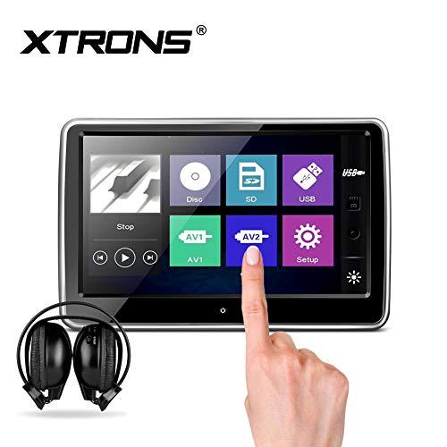 Xtrons 25,7cm HD Digital TFT kapazitiver Touch Screen Auto Kopfstütze DVD Player 1080p Video