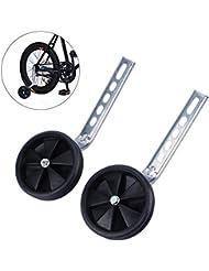 Yosoo - Ruedas ajustables para bicicleta de 12 a 20 pulgadas - SPOMHNK2721, Negro