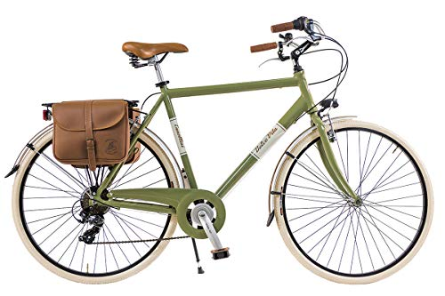 Via Veneto by Canellini Bicicleta Bici Citybike CTB Hombre Vintage Retro Dolce Vita Aluminio Vert Olive (58)