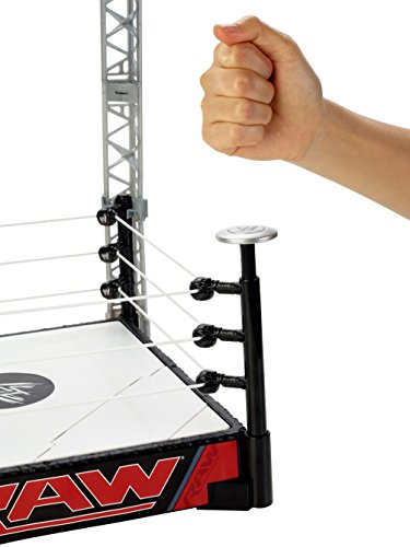 d230b10b35c2 Mattel Accessori Ring WWE Slam N Launch Raw Arena Wrestling