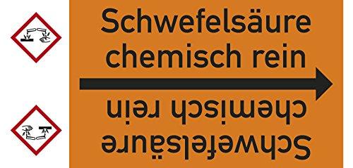 LEMAX® Rohrleitungsband Schwefelsäure chem.rein,DIN 2403,ab Ø15mm,orange/schwarz,33m/Rolle (Chem-schild)