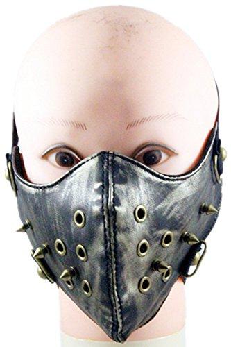 (Wei fei Herren und Damen Neue Retro Punk Matt zu Tun die alte Gothic Mask Warm Spike Maske)