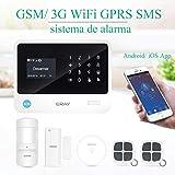 ERAY S2 Alarmas para Casa WiFi+gsm/ 3G+GPRS, Antirrobo, Inalámbrico, SOS Botón, App Gratuita, Servicio + Garantía,...