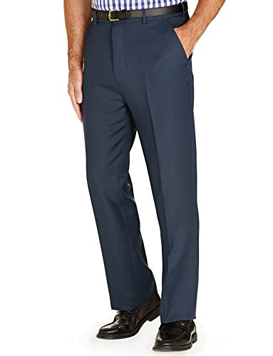 Mens Stretch Waist Formal Smart Work Trousers