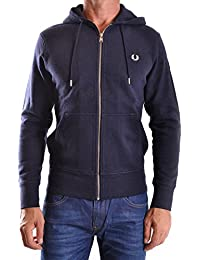 Fred Perry Homme MCBI128120O Bleu Coton Sweatshirt