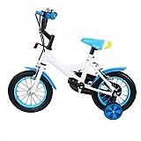 MuGuang 12 Pouces Vélo Enfant Étude d'apprentissage équitation vélo garçons Filles vélo avec stabilisateurs Vélo avec Bell pour Enfant de 3 à 6 Ans(Bleu)