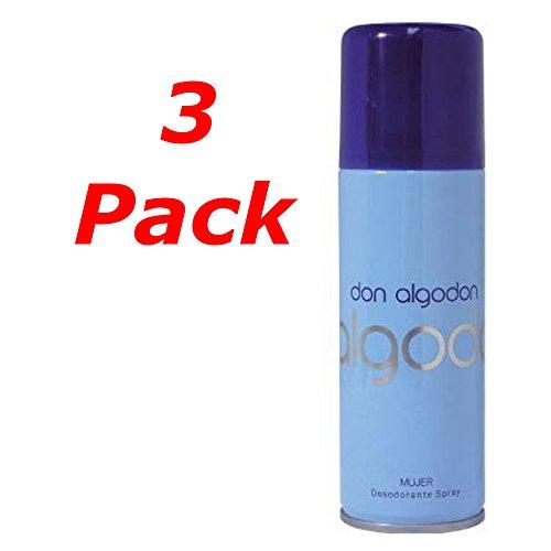 DON ALGODON Mujer Deo Spray 200ML. Pack de 3