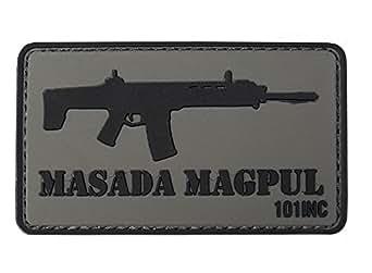 ECUSSON / PATCH 3D PVC VELCRO FUSIL D'ASSAUT MASADA MAGPUL ACR 101 INC GRIS ET NOIR AIRSOFT KZA-E740/4441303762