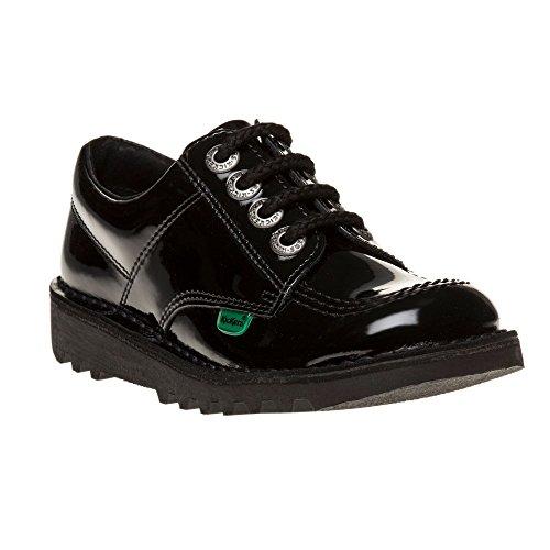 Kickers Kick Lo Core Patent Infants Chaussures Noir