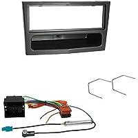 Baseline Connect Kit de instalación de Radio de coche para Opel (Astra H, Tigra 2006>, Vivaro 2008>), color metálico/plateado oscuro