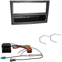 Kit de instalación de Radio de coche para Opel (Astra H, Tigra 2006>, Vivaro 2008>), color metálico/plateado oscuro