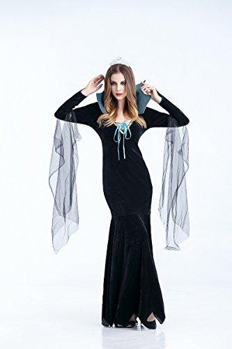 Ruanyi Ghost Festival Kostüm weibliche Vampir Zombie Kostüm Halloween Geist Braut Maskerade Party Königin Dres für Frauen (Size : XL)