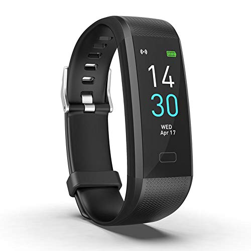 Reloj Inteligente con pulsómetro, Monitor de Fitness, Reloj Deportivo, Resistente al Agua...