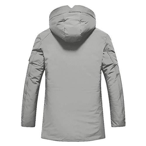 Schurwolle 3-knopf-anzug (Setsail Der Herbst-Winter-beiläufige Taschen-Knopf-Reißverschluss Hoodie der Art- und WeiseHerren thermischer Decklack)