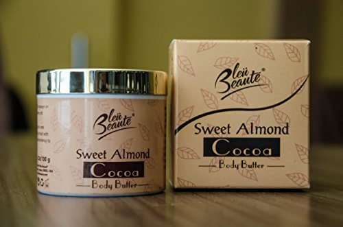 Bleu Beaute Sweet Almond und Kakao-Körperbutter-Creme - Moisturizing Hautnährendes Hautpflege-Creme für Dehnungsstreifen und Narben -