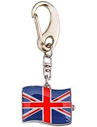 Klox Union Jack Flag British Pocket Key Ring Watch Analog Quartz Movement