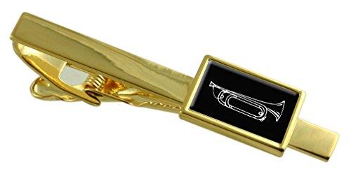 bugle-tono-oro-seleccione-clip-de-corbata-bolsa-de-regalo