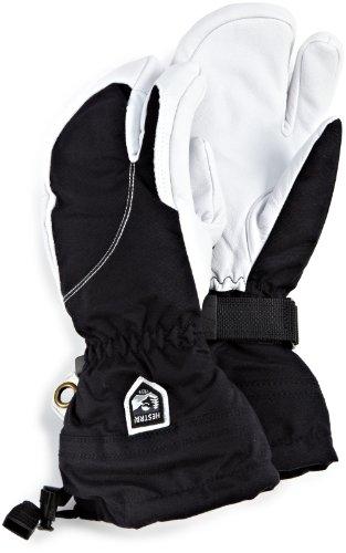 Hestra Damen Heli Drei-Finger-Handschuh, damen, Black/Off White