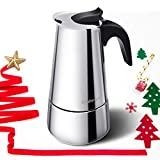 Godmorn Cafetière Italienne, Cafetière Mokka en INOX Cafetière à Pression Macchinette 6 Tasses...