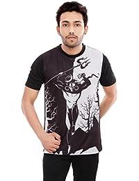 364d647922 Triumph Polyester Men s Tshirts Shiva Design Black