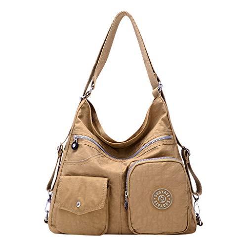 Damen Nylon Freizeit Henkeltaschen Frauen Mode Bags Totes Bucket Hobo Schultertaschen Women Casual Elegant Shopper Taschen Handtasche Multifunktionale Umhängetaschen Rucksackhandtaschen -